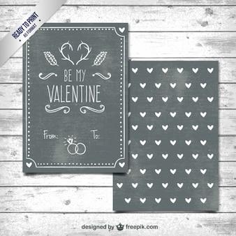 San valentino lavagna day card