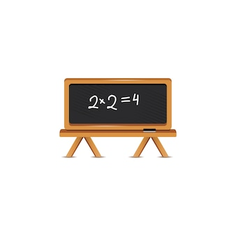 Blackboard with formula
