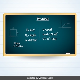 Blackboard with physics subject