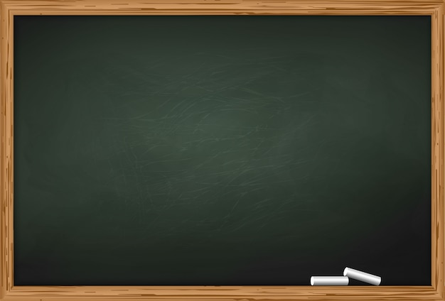 Blackboard with two pieces of chalk