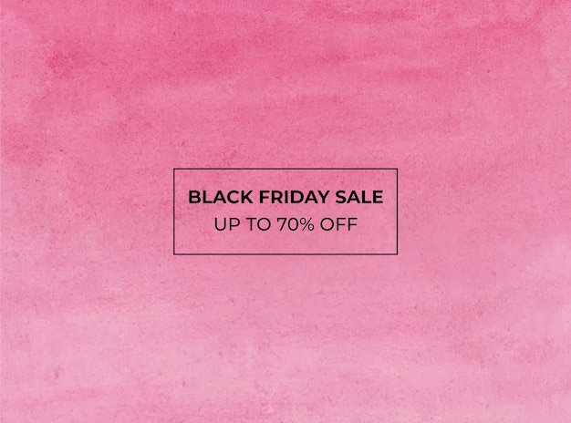 Blackfriday sale watercolor background