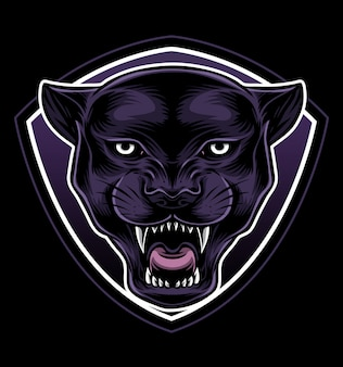 Blackpanther logo vector