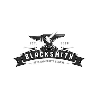 Blacksmith anvil logo template