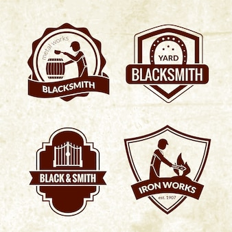 Blacksmith emblems set