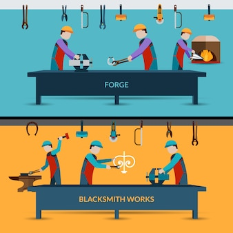 Blacksmith workshop illustration
