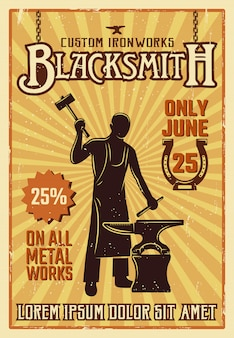 Blacksmith yellow poster