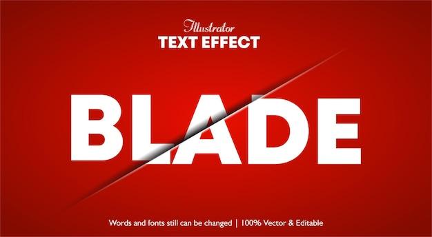 Текстовый эффект с вырезом клинком