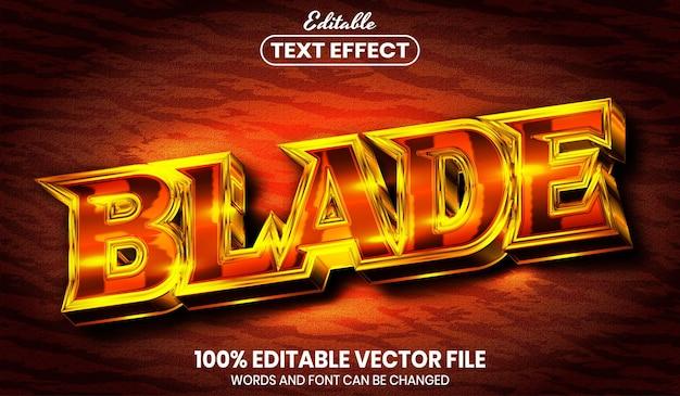 Текст лезвия, редактируемый текстовый эффект стиля шрифта