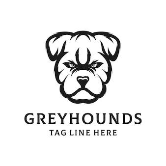 Blan and white greyhounds logo