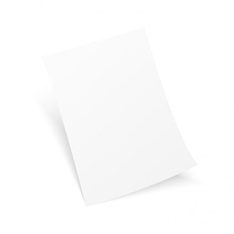 Blank a4 flyer poster isolated. vector