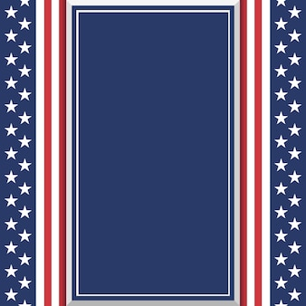 Blank abstract american background. poster or brochure template.  illustration.