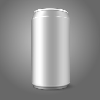 Blank aluminium can, for different designs of beer