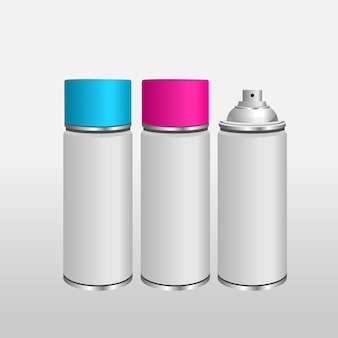 Blank aluminium spray can template
