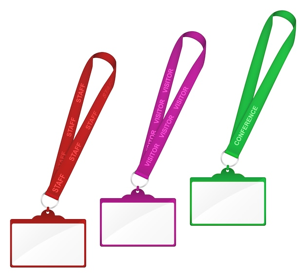 Blank badge name tag holder