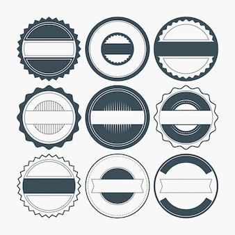 Blank badge shapes