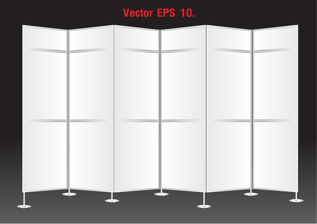 Blank banner display stands advertising