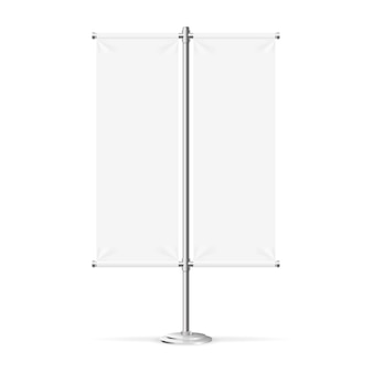 Пустой флаг баннер может быть использован для вашей рекламы.