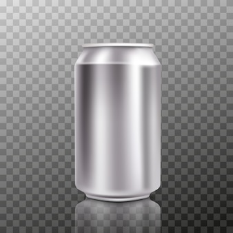 Blank big cold aluminium beer can with drops, 300 ml.