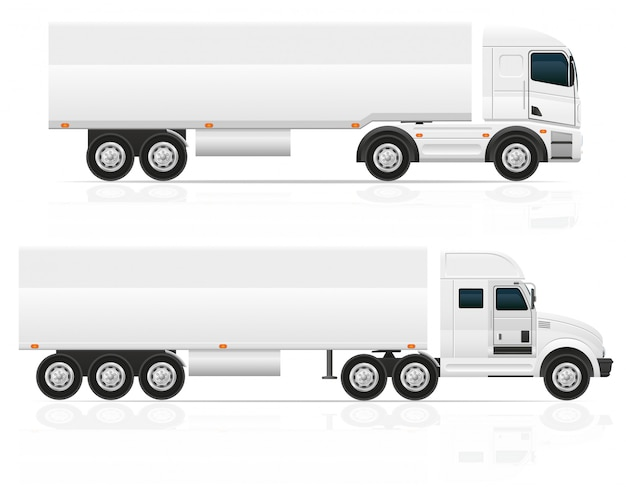 Blank big truck tractor for transportation cargo vector illustration