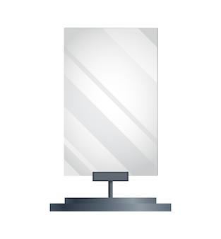 空白の看板広告。広告構造または屋外看板。