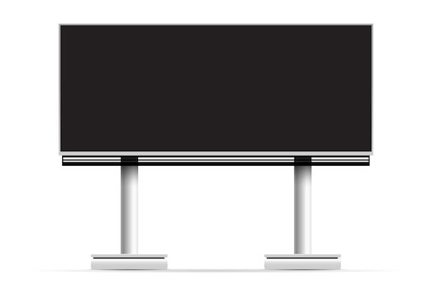 Blank billboard construction mockup vector illustration