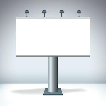 Blank billboard display