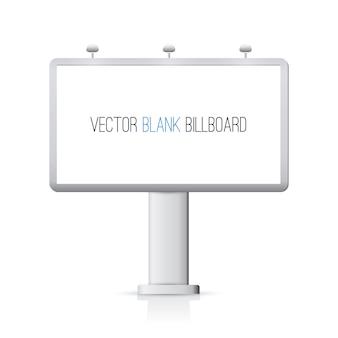 Blank billboard isolated