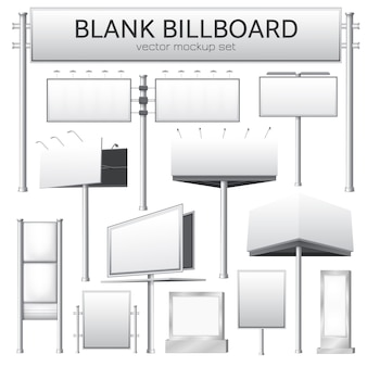 Blank billboard mockup for advertisement