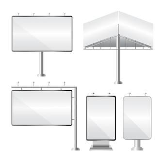 Пустой рекламный щит. макет и шаблон для вашей рекламы и дизайна.