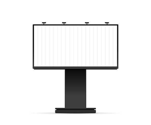 Blank billboard mockup vector illustration