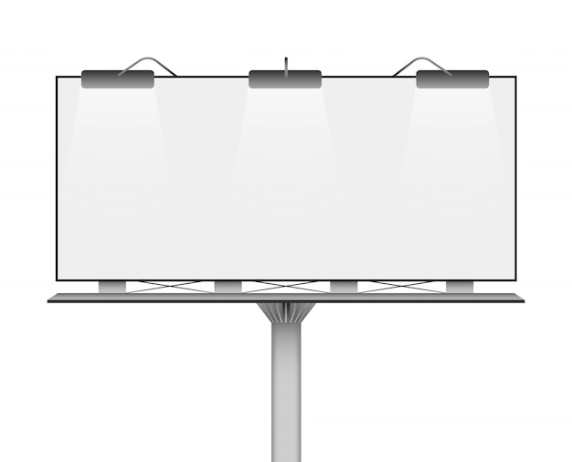 Blank billboard mockup for your advertisement.