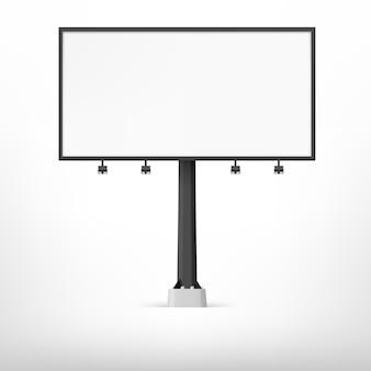 空白の黒い看板、イラスト。