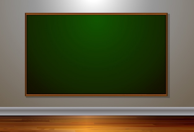 Blank blackboard in the room