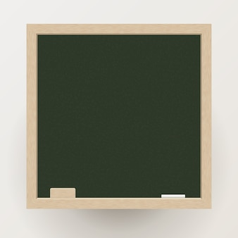 Blank blackboard with chalk and eraser