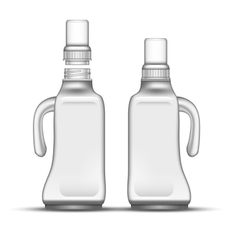 Blank bleach plastic bottle with handle