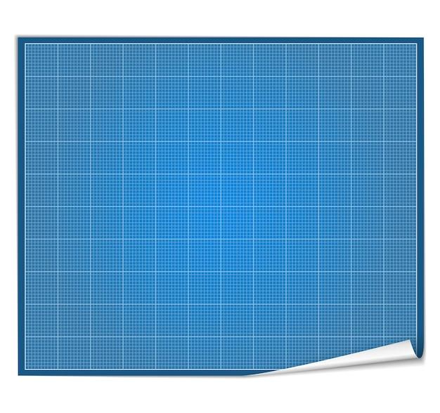 Blank blueprint paper,