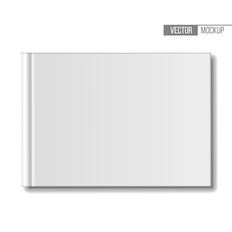 Blank book mockup isolated on white