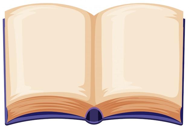 흰색 배경에 빈 책