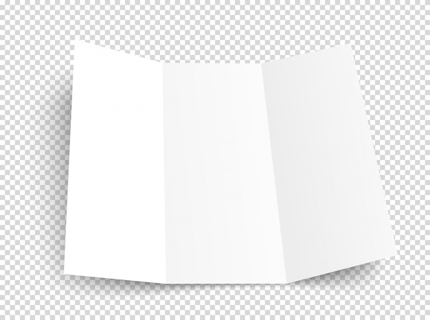 Blank booklet on transparent