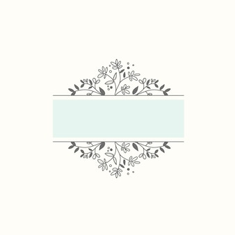 Blank botanical frame design element vector