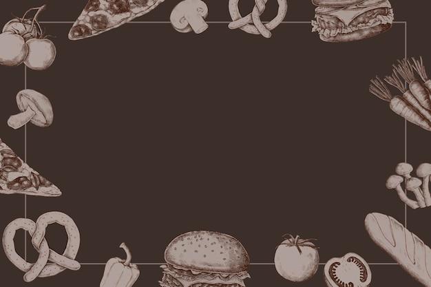 Design della cornice del pane vuoto