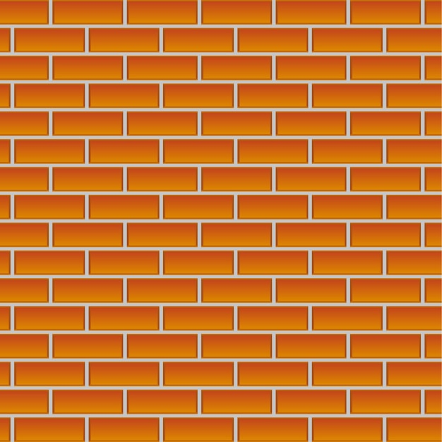 Blank bricks wall background vector illustration