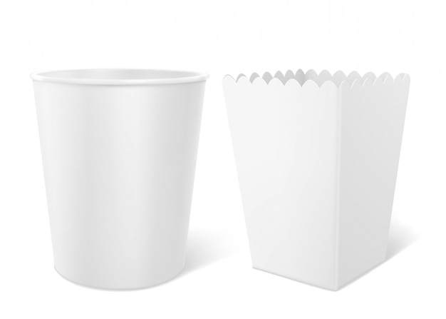 Blank bucket for popcorn, hen wings or legs