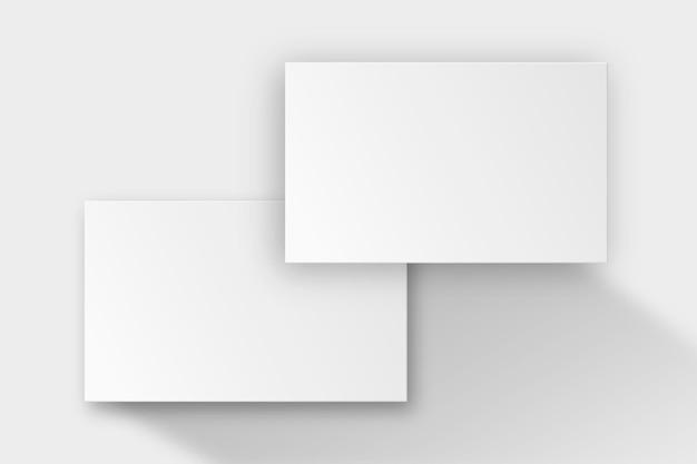 전면 및 후면보기와 흰색 톤의 빈 명함 디자인