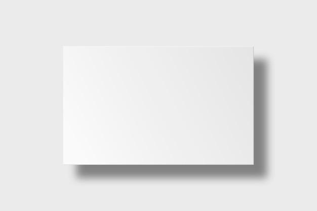 Дизайн пустой визитной карточки в белых тонах
