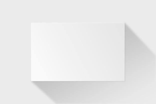 白いトーンの空白の名刺のモックアップ 無料ベクター