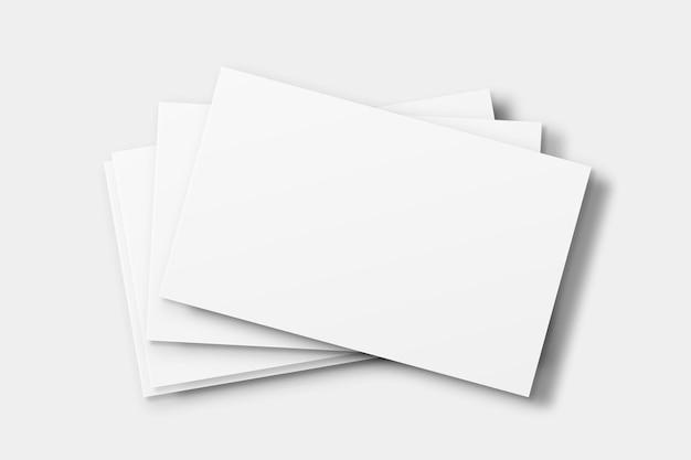 白いトーンの空白の名刺のモックアップ