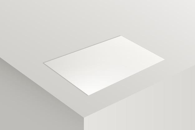 Modello di biglietto da visita in bianco in tono bianco