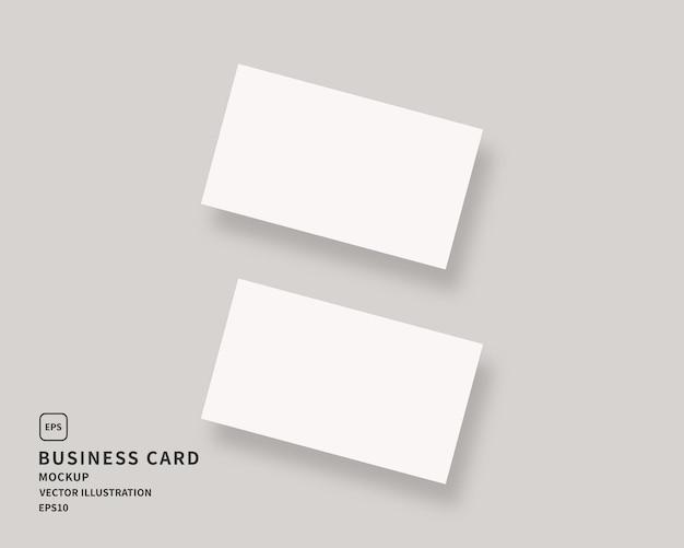 Пустая визитная карточка. двух горизонтальных визиток.