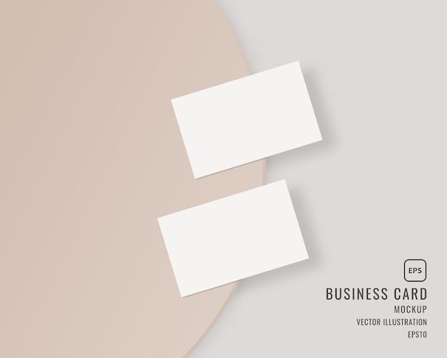 空白の名刺。2枚の横型名刺のテンプレート。